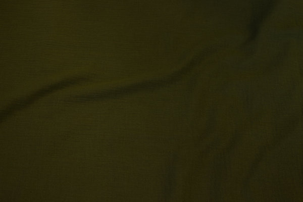 Double-woven cotton-crepe (gauze) in olive-colored