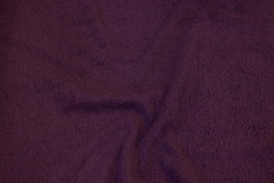 Double-woven terry cloth in eggplant-colored