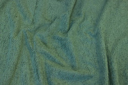 Double-woven terry cloth in olive-green