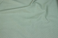 Dusty-green cotton with small white dots