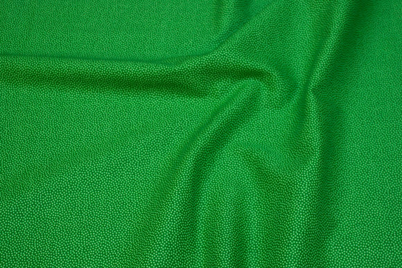 Grass green cotton with mikro-dot