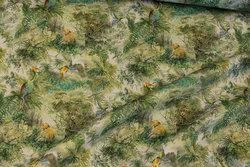 Light, soft cotton satin with jungle-pattern