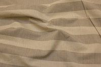 Linen-colored polyester and linen with 5 cm wide across-stripes