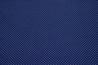 Navy cotton with 1 mm white dots