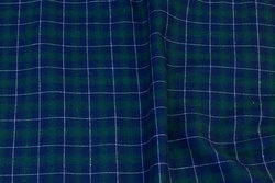 Navy and green cotton-flannel with white line-checks