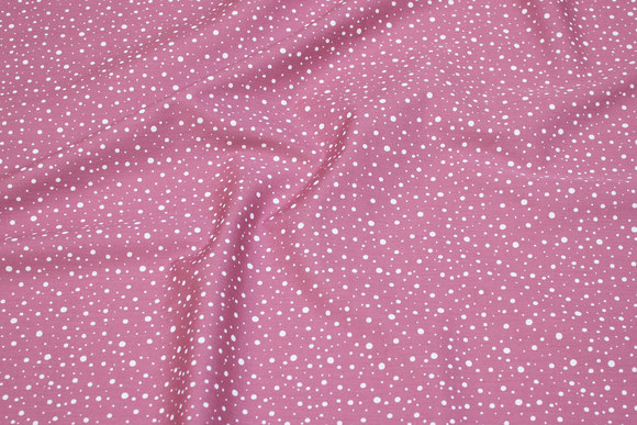 Old rose cotton-poplin with white dots