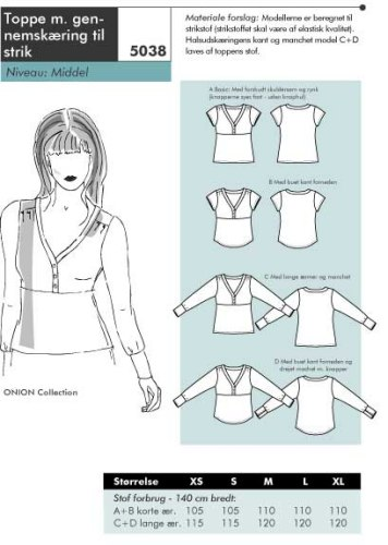 Tops with cut-through to knit
