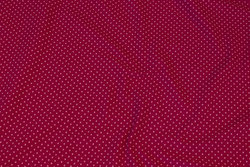 Pink cotton-jersey with light red mini-dots