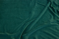 Stretch velvet in light bottle-green