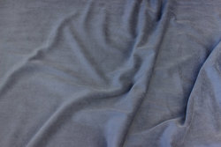 Stretch velvet in medium-grey