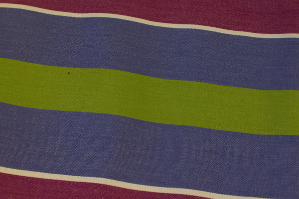 Striped sunchair fabric in red-purple, lavender and green