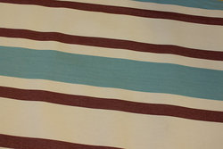 Striped sunchair fabric in white, light blue and bordeaux