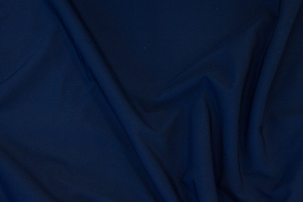 Thick, navy softshell, coated and with fleece back