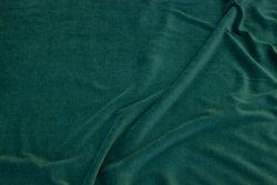 Stretch velvet in light bottle-green
