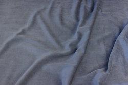 Stretch velvet in medium-grey