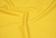 Yellow cotton with 2 mm white stars