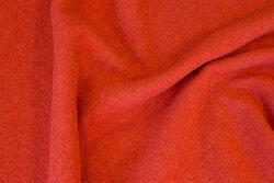 100 % wool bouclé in burned orange