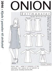 Onion pattern: Dress with panels