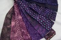 Bali poppy batique strips - purple nappa