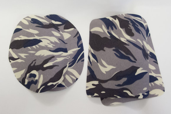 Camouflage patch grey 9x11cm