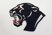 Big black panther patch 11x11