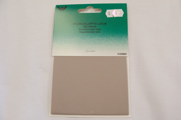 Greyish sand nylon repair patch 10 x 20 cm
