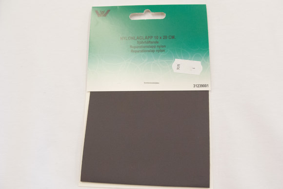 Grey nylon repair patch 10 x 20 cm