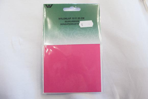 Pink nylon repair patch 10 x 20 cm