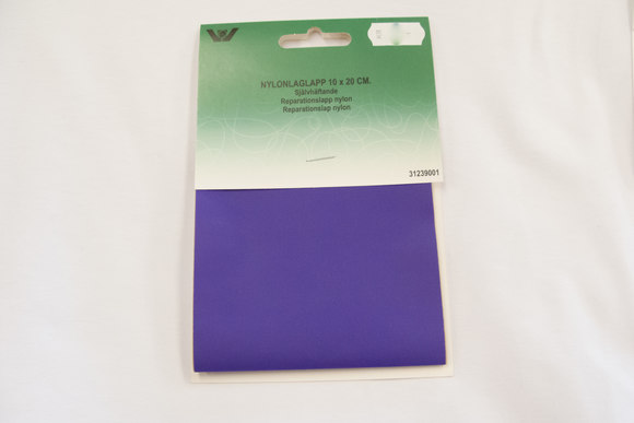 Purple nylon repair patch 10 x 20 cm