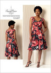 Pleated Dress with Sweetheart-Neckline - Tracy Reese