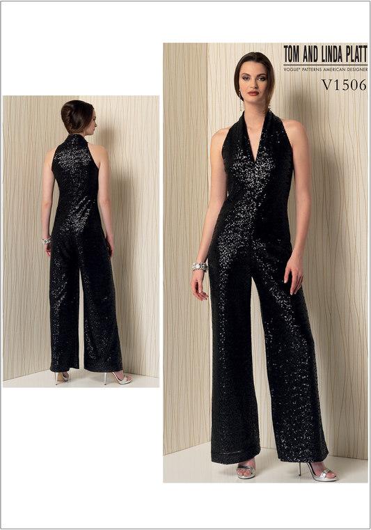 619ef931064 Vogue 1506 Jumpsuit uden ærmer med benvidde -Tom og Linda Platt ...