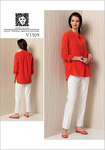 Vogue 1509. Banded Tunic with Yoke and Tapered Pants - Anne Klein.