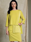 Batwing or Layered-Overlay Tops, Pencil Skirt and Pants - Tom and Linda Platt