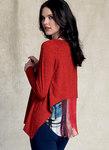 Asymmetrical-Hem, Back-Underlay Top - Marcy Tilton
