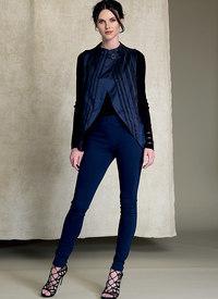 Vogue pattern: Seamed, Tulip-Hem Vests and Pants - Marcy Tilton