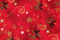 Christmas-cotton with holly and stars