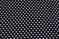 Black cotton with 10 mm white dots