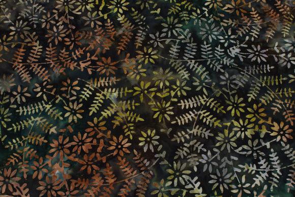 Batique-cotton in green nuances
