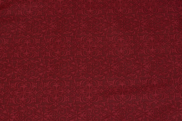 Bordeaux patchwork-cotton with relief-pattern