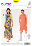 Burda 6498. Dress, Two Layered, Wrap Look.