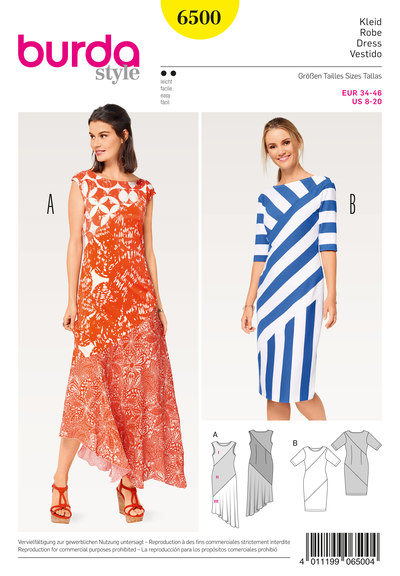 Jersey Dress, Asymmetric