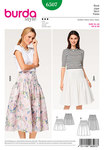 Burda 6507. Pleated Skirt, Pleats Stitched at the Top.