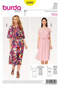 Burda pattern: Dress, Elastic Waist
