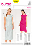 Burda 6510. Dress, Shift, Panel Seams.