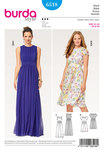 Burda 6518. Dress, Evening Dress, Two-Layered, Waistband.