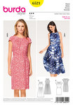 Burda 6521. Dress with Neckline Band, Raglan Sleeves.