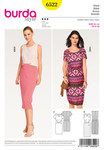 Burda 6522. Dress, Sheath, Shaped Waistband.