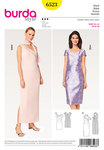 Burda 6523. Dress, Asymmetric, One-Shoulder-Dress.