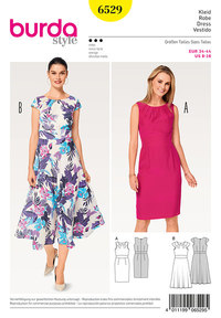 Burda pattern: Dress, Waistband,  Small Sleeves