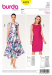 Burda 6529. Dress, Waistband,  Small Sleeves.